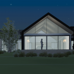 project_KNISPEL_WDs_option_3 garage doors_BMf - 3D View - 3D View FRONT 5_night_2_lighter